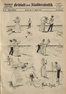 Kladderadatsch, 41. Jahrgang, 19. August 1888, Nr. 38 (Beiblatt)
