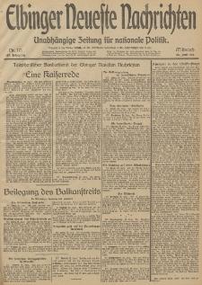 Elbinger Neueste Nachrichten, Nr. 171 Mittwoch 25 Juni 1913 65. Jahrgang