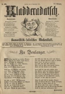 Kladderadatsch, 41. Jahrgang, 2. September 1888, Nr. 40