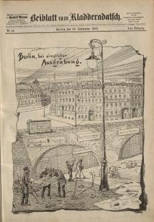 Kladderadatsch, 41. Jahrgang, 16. September 1888, Nr. 42 (Beiblatt)