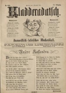 Kladderadatsch, 41. Jahrgang, 2. Dezember 1888, Nr. 55