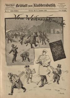 Kladderadatsch, 41. Jahrgang, 16. Dezember 1888, Nr. 57 (Beiblatt)