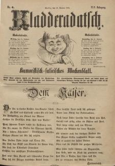 Kladderadatsch, 42. Jahrgang, 27. Januar 1889, Nr. 4