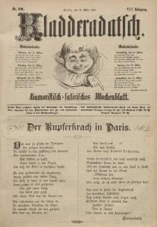 Kladderadatsch, 42. Jahrgang, 17. März 1889, Nr. 12