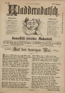 Kladderadatsch, 42. Jahrgang, 12. Mai 1889, Nr. 21