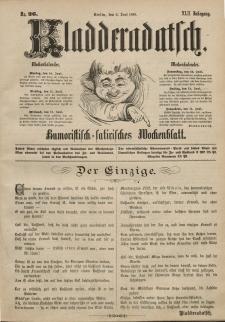 Kladderadatsch, 42. Jahrgang, 9. Juni 1889, Nr. 26