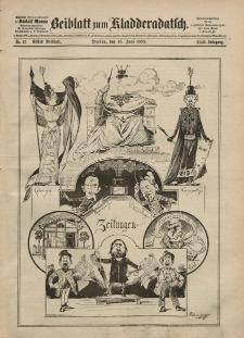 Kladderadatsch, 42. Jahrgang, 16. Juni 1889, Nr. 27 (Beiblatt)