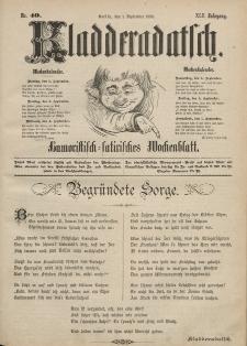 Kladderadatsch, 42. Jahrgang, 1. September 1889, Nr. 40