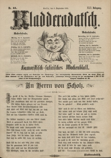 Kladderadatsch, 42. Jahrgang, 8. September 1889, Nr. 41
