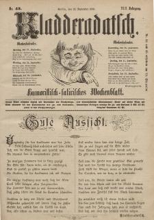 Kladderadatsch, 42. Jahrgang, 22. September 1889, Nr. 43