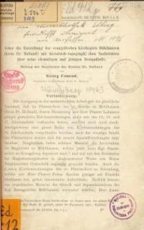 Ueber die Entstehung des evangelischen Kirchspiels Mühlhausen (Kreis Pr. Holland) mit historisch …