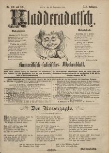 Kladderadatsch, 42. Jahrgang, 29. September 1889, Nr. 44/45