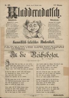 Kladderadatsch, 42. Jahrgang, 27. Oktober 1889, Nr. 49