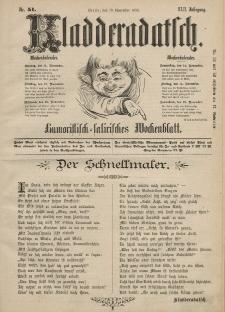 Kladderadatsch, 42. Jahrgang, 10. November 1889, Nr. 51