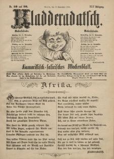 Kladderadatsch, 42. Jahrgang, 17. November 1889, Nr. 52/53