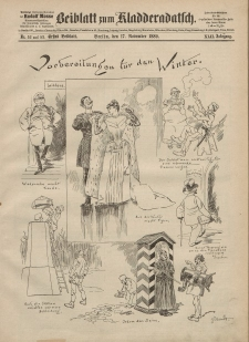 Kladderadatsch, 42. Jahrgang, 17. November 1889, Nr. 52/53 (Beiblatt)