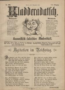 Kladderadatsch, 42. Jahrgang, 8. Dezember 1889, Nr. 56