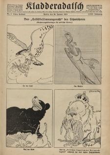 Kladderadatsch, 71. Jahrgang, 20. Januar 1918, Nr. 3 (Beiblatt)