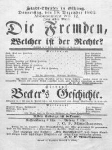 Die Fremden, oder: Welcher ist der Rechte? - Roderich Benedix