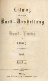 Katalog der sechsten Kunst – Ausstellung des Kunst – Vereins in Elbing