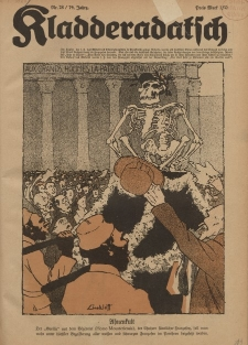 Kladderadatsch, 74. Jahrgang, 10. Juli 1921, Nr. 28