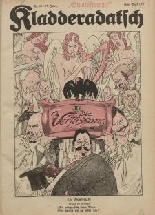 Kladderadatsch, 74. Jahrgang, 2. Oktober 1921, Nr. 40