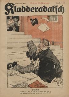 Kladderadatsch, 74. Jahrgang, 9. Oktober 1921, Nr. 41