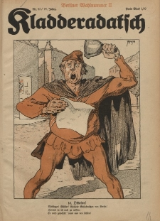 Kladderadatsch, 74. Jahrgang, 16. Oktober 1921, Nr. 42