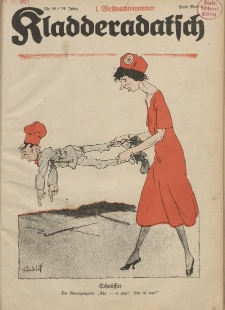 Kladderadatsch, 74. Jahrgang, 4. Dezember 1921, Nr. 49
