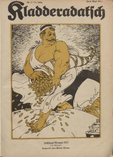 Kladderadatsch, 76. Jahrgang, 14. Januar 1923, Nr. 2