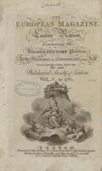 The European Magazine. Vol. V, Januar, 1784