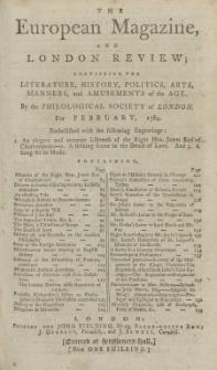 The European Magazine. Vol. V, Februar, 1784