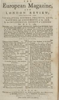 The European Magazine. Vol. V, Mai, 1784