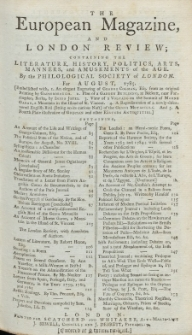 The European Magazine. Vol. VIII, August, 1785