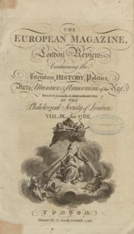 The European Magazine. Vol. IX, Januar, 1786