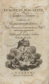 The European Magazine. Vol. XI, Januar, 1787