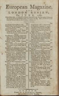 The European Magazine. Vol. XI, Juni, 1787