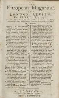 The European Magazine. Vol. XIII, Februar, 1788