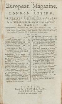 The European Magazine. Vol. XIII, März, 1788