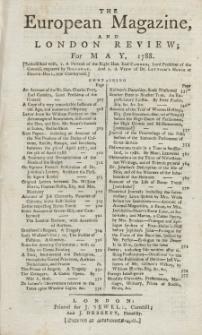 The European Magazine. Vol. XIII, Mai, 1788