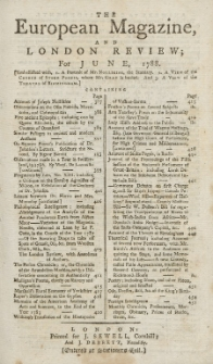 The European Magazine. Vol. XIII, Juni, 1788
