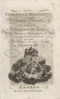 The European Magazine. Vol. XIV, Juli, 1788