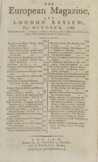 The European Magazine. Vol. XIV, Oktober, 1788