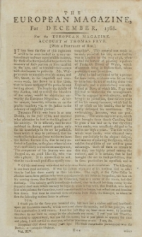 The European Magazine. Vol. XIV, Dezember, 1788