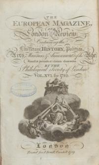 The European Magazine. Vol. XVI, Juli, 1789