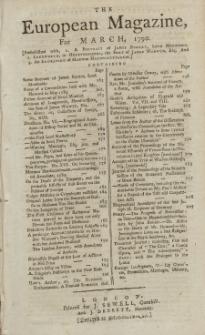The European Magazine. Vol. XVII, März, 1790