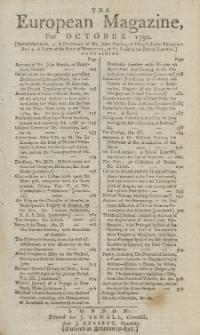 The European Magazine. Vol. XVIII, Oktober, 1790