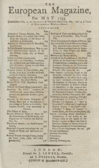 The European Magazine. Vol. XXIII, Mai, 1793