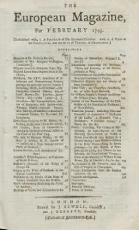 The European Magazine. Vol. XXVII, Februar, 1795