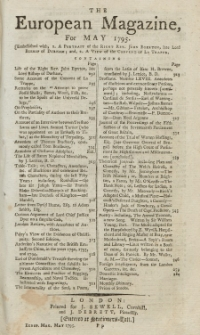 The European Magazine. Vol. XXVII, Mai, 1795